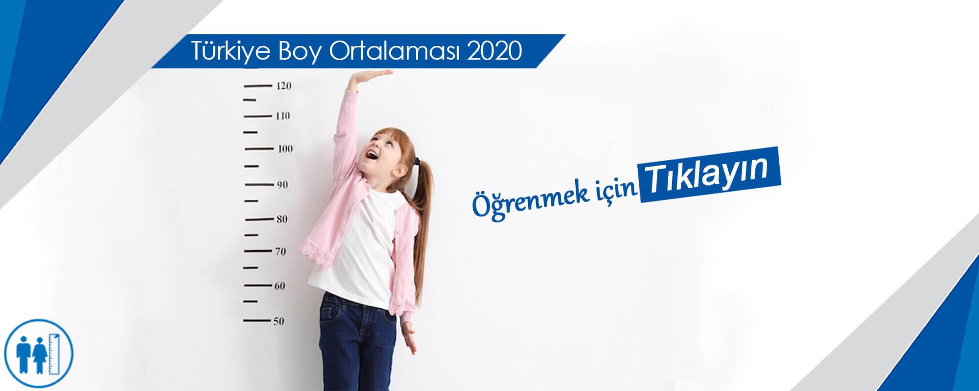 Türkiye Boy Ortalaması 2020